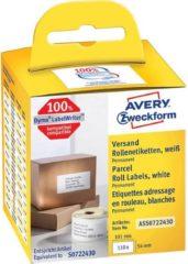 Avery-Zweckform Rol met etiketten Compatibel vervangt DYMO, Seiko 99012, S0722400 89 x 36 mm Papier Wit 520 stuk(s) Permanent Adresetiketten AS0722400