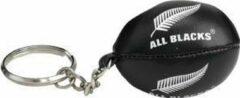 Zilveren Gilbert rugbybal sleutelhanger All Blacks