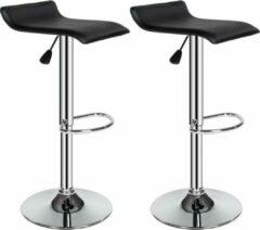 Zilveren TecTake barkruk - Set van 2 barkrukken barstoel tafelkruk kruk, design- 401571