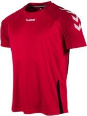 Rode Hummel Authentic Tee Sportshirt Unisex - Maat L