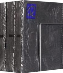 Antraciet-grijze Merkloos / Sans marque Servetten - Papier - Set van zes pakjes - 6 x 20 stuks - Uni Antraciet- 33cm x 33cm