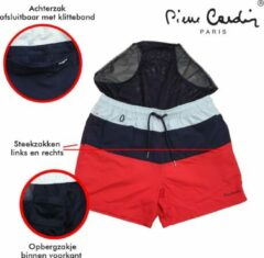Pierre Cardin - Heren Zwembroek - Nice - Rood/Blauw
