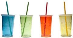 Groene Cosy&Trendy Summer party glazen multi color (4 stuks)