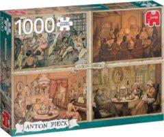 Jumbo Premium Collection Puzzel Anton Pieck Sfeer in de Woonkamer - Legpuzzel - 1000 stukjes