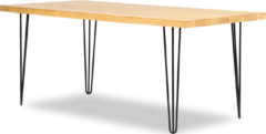 Bruine Lanterfant Lanterfant® Megan - Eettafel - Eikenhout - 180 x 90 - Hairpin poten