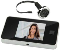 Zwarte Intersteel Digitale deurcamera met spion DDV 3.0 in blister verpakking