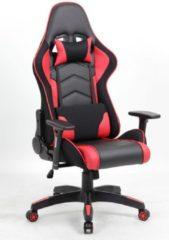 Gamestoel Advanced met verstelbare armleuningen Rood-Zwart
