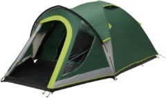 Groene Coleman Kobuk Valley 3 Plus Koepeltent - BlackOut - 3 persoons