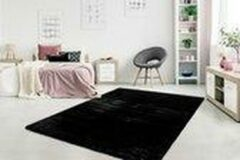 Dessa Home Garden Heaven - Vloerkleed – Vloer kleed - Tapijt – Karpet - Hoogpolig - Superzacht - Fluffy - Shiny- Silk look- 160x230 - Zwart