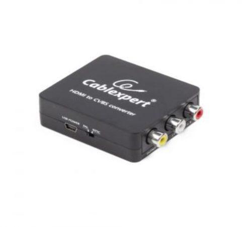 Afbeelding van Zwarte Gembird CablExpert DSC-HDMI-CVBS-001 -Converter HDMI - Composiet