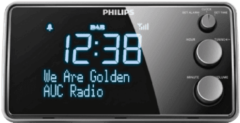 Zwarte Philips AJB3552 DAB+ Wekkerradio 9,2 x 17,2 cm