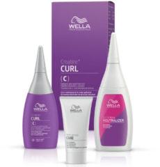 Wella Professionals Permanentes Styling Creatine+ Curl Set für eine Komplettanwendung (C) Coloriertes und sensibles Haar: Permanente Well-Lotion 75 ml