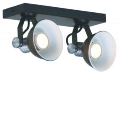 Steinhauer Brooklyn plafondlamp   2 spots   draaibaar & kantelbaar   incl. led   zwart