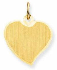 Gele Glow Gouden Graveerplaatje 'Hart' 14.5 x 14.5 mm 242.0001.00