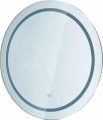 Merkloos / Sans marque LED Badkamerspiegel - Nirano Mirron - Ø60cm - Rond - Anti Condens - Touch Schakelaar - Aanpasbare Kleur CCT