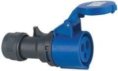 ABL Serum CEE contra-stekker 230V 3-polig-16A met barcodelabel blauw