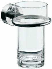 Emco Rondo 2 glashouder met glas kristal helder chroom