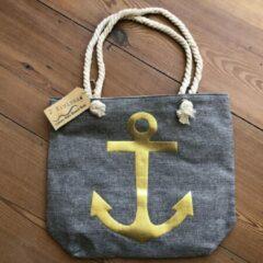 Gouden 2 Eivissa Strandtas Ibiza style - Grey Anchor