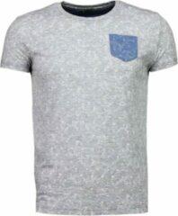 Black Number Blader Motief Summer - T-Shirt - Grijs Blader Motief Summer - T-Shirt - Groen Heren T-shirt Maat L