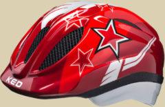 KED Meggy Kinder Fahrradhelm Kopfumfang S 46-51 red stars
