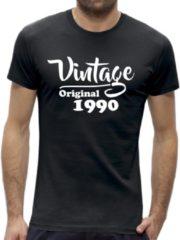 Zwarte New York Finest Leeftijd 30 jaar t-shirt - Vintage / kado tip / heren maat XL / origineel verjaardag cadeau man