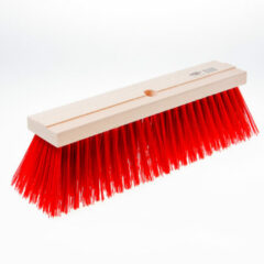 Klusgereedschapshop Straatbezem rood pvc 40cm