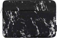 CanvasArtisan Laptophoes 15.6 Inch - Laptop Sleeve - Zwart Marmer