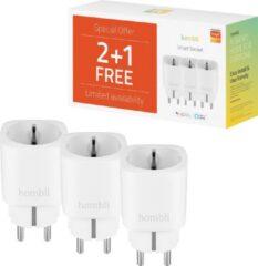 Witte Hombli Slimme Stekker - EU Smart Socket Promo Pack 2+1