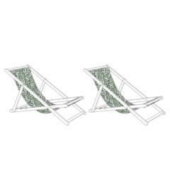 Beliani Stoffbezug für Gartenliege ANZIO / AVELLINO - Ligstoeldoek - Wit - polyester