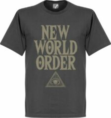 Retake New World Order T-Shirt - Donkergrijs - L