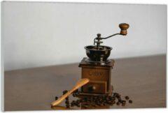 Bruine KuijsFotoprint Plexiglas –Oude Koffiemaler met Koffiebonen – 40x30 (Wanddecoratie op Plexiglas)