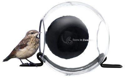 Afbeelding van Zwarte Vogelvoeder Bird Feeder - Closeup - Transparant - Born In Sweden