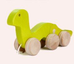 Bajo houten trekfiguur Worm - Groen
