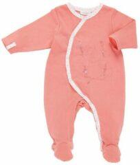 Oranje Noukie's Perzikkleurig pyjama trappelpakje-6M