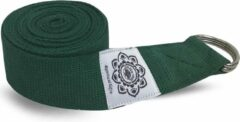 Groene Greentree® Green Cotton Yoga 8 ft. strap with wrapped 1.5'' D ring