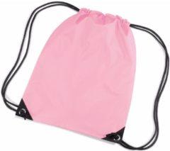 Merkloos / Sans marque Nylon rugzak / gymtas roze met koordsluiting / sluitkoord