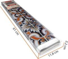 Walplus Decoratiesticker Talavera Tegels 108x108 Cm Pvc Blauw/bruin