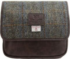 Blauwe The British Bags Company Hang Toilettas Carloway Harris Tweed – PU