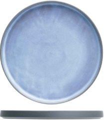 Cosy&Trendy Baikal Blue Plat Bord D22cm (set van 6) En Yourkitchen E-kookboek - Heerlijke Smulrecepten
