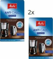 Melitta anti calc powder ontkalker - 2x verpakking a 6x 20gr poeder - ontkalkingsmiddel ontkalker voor filter koffiezetapparaten en waterkokers