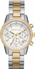 Michael Kors MK6474 Horloge Ritz staal zilver-en goudkleurig 37 mm