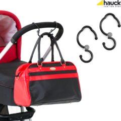 Zwarte Hauck Hook Me - Tashaken voor Kinderwagen - Zwart