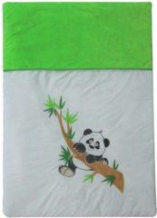 Groene Stefano Fashion Panda - dekbed - donsdeken 120x80 cm voor bedje 60x120 cm