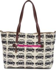 Pink Lining Notting Hill Tote - Black cabs-black and pink