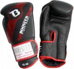 Booster Fight Gear (leren) bokshandschoenen – BGL 1 V3 Zwart/Rood - 16oz