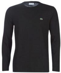 Zwarte T-Shirt Lange Mouw Lacoste TH6712