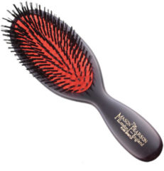 Zwarte Mason Pearson Pocket Bristle Haarborstel