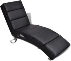 Zwarte VidaXL Elektrische massage ligstoel (zwart)