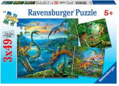 Ravensburger puzzel Dinosauriërs - Drie puzzels - 49 stukjes - kinderpuzzel