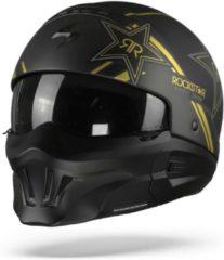Gouden Scorpion EXO-Combat Evo Rockstar Gold Jet Jethelm - Motorhelm - Maat XL